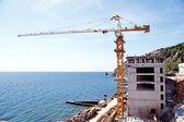 Construction site at the sea coast — Stock Photo