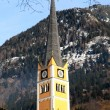 Church tower in Alpine village Bad Hofgastein , Austria. — Stock Photo