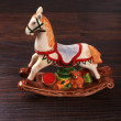 Vintage ceramic toy horse — Stock Photo #24696513