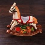 cavallo giocattolo ceramica vintage — Foto Stock