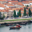 Wine Boats on River Douro (Porto,Portugal) — Stock Photo