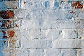 Grunge painted brick wall — Stock Photo