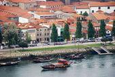 Wine Boats on River Douro (Porto,Portugal) — Foto Stock