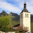 Church of Gruyeres, Switzerland — Stock Photo