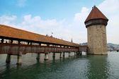 Chapel bridge in Lucerne(Switzerland) — Stock Photo