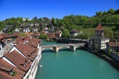 Río bern y aare, suiza — Foto de Stock