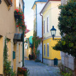Stock Photo: Narrow cobblestone street, Baden, Austria