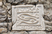 City sign of Budva, Montenegro — Stock Photo