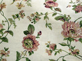 Floral linen background — Stock Photo