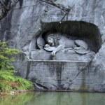 Lion Monument (Löwendenkmal) in park (Lucerne, Switzerland), — Stock Photo #27194265