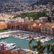 Cityscape of Nice(France), harbor view from above — Stock Photo