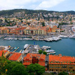 Stock Photo: Cityscape of Nice(France), harbor view from above