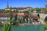 Paesaggio urbano di berna e aare fiume, svizzera — Foto Stock