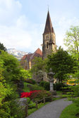 A beautiful church in Interlaken, Switzerland — Stok fotoğraf