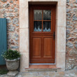 Door of stone wall house, Provence, France — Stock Photo