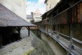 Chillon-slottet (chateau de chillon), Schweiz — Stockfoto