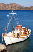 Fishing boat in Mirabello Bay, Crete,Greece — Stock Photo