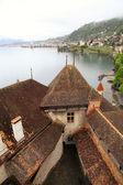 Шильонский замок (Замок de chillon), Швейцария — Стоковое фото