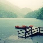 Rain on the lake — Stock Photo #29944513