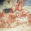 Antique wall fresco- St. George — Stock Photo