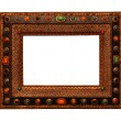 Vintage wooden ornate picture frame — Stock Photo