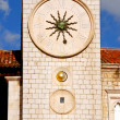 Famous clock tower of Dubrovnik(Croatia) — Stock Photo