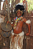 Zulu drummer — Stock Photo