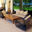 Stock Photo: Outdoor furnitures on luxury resort