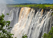 Majestic view with Victoria falls(South Africa) — Stock Photo