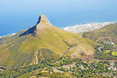 Lion's Head mountain and Cape Town, South Africa. — Stock Photo