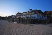 Beach cafe on tourist resort terrace — Stock Photo