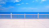 Terrace with balustrade overlooking the sea — Stock Photo