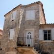 Mediterranean stone medieval house — Stock Photo
