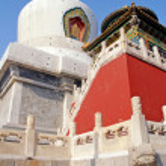 White pagoda(Beijing,China) — Stock Photo