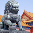 Bronze lion in Forbidden city(Beijing, China) — Stock Photo