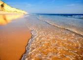 Idillic sand beach on the Atlantic coast — Stock Photo