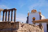 Roman temple and catholic church(Portugal, Evora) — Stock Photo