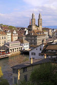 Zurich cityscape, Switzerland. Vertical image — Stock Photo