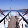 Stock Photo: Gangplank of sailboat