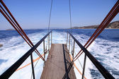 Gangplank of the sailboat — Stock Photo