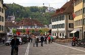 Muhlenplatz in Lucerne Old Town, Switzerland — Stock Photo