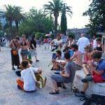 Street Musicians playing in Kotor, Montenegro — Stock Photo