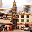 Sri Mariamman Temple in Chinatown district, Singapore — Stock Photo