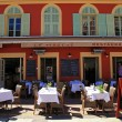 Stock Photo: French restaurants on the Cours Saleya, Nice, France