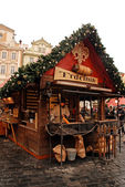 Trdelnik - Rolled Pastries on Prague Christmas market — Stock Photo