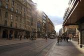 Rue du Marche in Geneva, Switzerland — Stock Photo