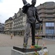 Freddie Mercury statue on waterfront of Geneva lake, Montreux, S — Stock Photo