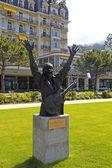Carlos santana pomnik w montreux, Szwajcaria — Zdjęcie stockowe