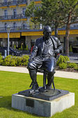 Statue of Vladimir Nabokov, Montreux, Switzerland — Stock Photo