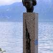 Statue of Miles Davis in Montreux, Switzerland — Stock Photo